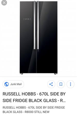 Russell Hobbs side by side Fridge and freezer