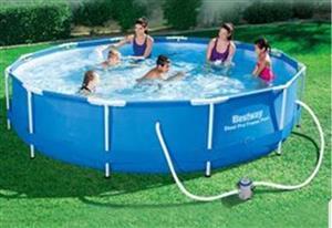 3.66 x .76cm bestway steel frame pool for sale