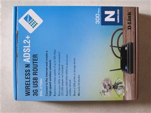 D-Link N300 Wireless ADSL2+ 3G USB Router, used for sale  Cape Town - Northern Suburbs