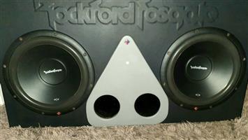 Rockford fosgate subs built x 2 R|2 12 inch with 6900 watt amplifier.
