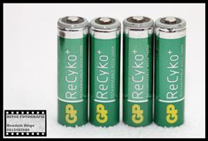 GP ReCyko+ 2050mAh Rechargeable AA Batteries