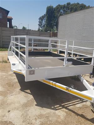 New trailers with railings for sale