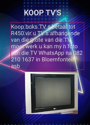 Koop boks TV s in  Bloemfontein moet werk