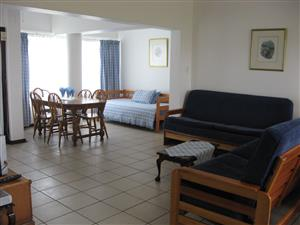 SPACIOUS ONE BEDROOM FULLY FURNISHED GROUND FLOOR FLAT FROM R2000 PER WEEK SHELLY BEACH, UVONGO, ST MICHAELS-ON-SEA