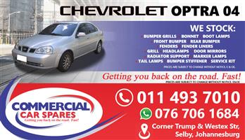 New Chev Optra 04- Body Parts And Spares For Sale At Car Spares