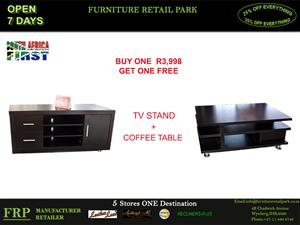 COFFEE TABLE+TV STAND BUY ONE GET ONE FREE
