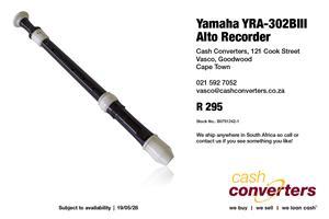 Yamaha YRA-302BIII Alto Recorder
