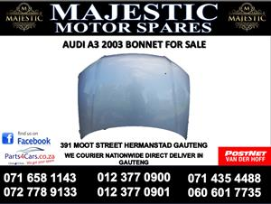 Audi A3 2003 bonnet for sale