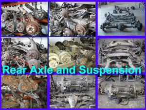 Rear Axles and suspensions for most makes and models for sale.
