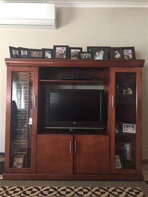Wooden single piece wall unit for sale