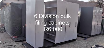 6 Division bulk filing cabinets