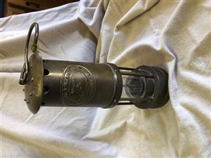 Brass ship's/miner's lamp