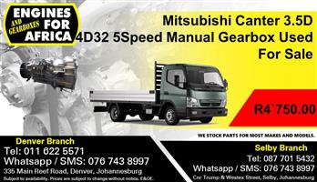 Mitsubishi Canter 3.5D 4D32 5Speed Manual Gearbox Used For Sale.