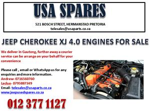 JEEP CHEROKEE XJ 4.0 ENGINES AND ENGINE PARTS