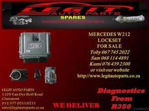 MERCEDES W212 LOCKSET FOR SALE
