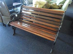 Awe Inspiring Cast Iron And Wooden Garden Bench Junk Mail Spiritservingveterans Wood Chair Design Ideas Spiritservingveteransorg