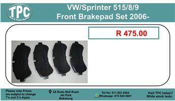 Vw/Sprinter 515/8/9 Front Brakepad Set 2006- For Sale.