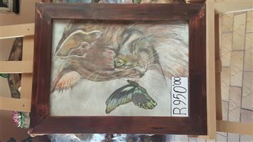 Original paintings 700 x 550 for sale.Framed in glass