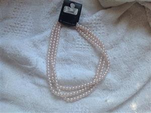 Rose pearl necklace for sale