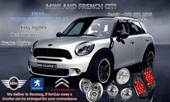 Mini cooper Fog lights , brake lights and Headlights for sale at Mini and French Citi