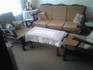 Imbuia 5 seater lounge suite