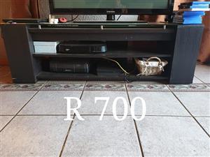 Dark wooden tv stand for sale