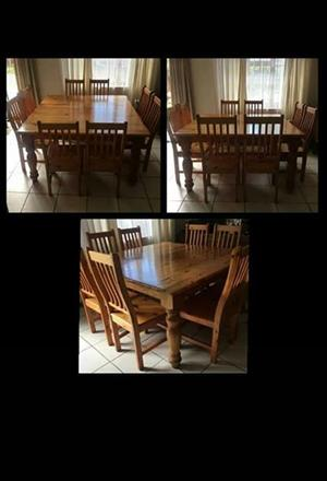 Dining Table & Chairs - 8 Seater