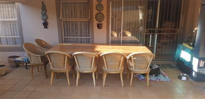 Large Dining Table with Chairs