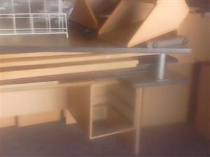 OFFICE DESKS ,CHAIRS STEEL FILLING CABINETS