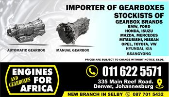 Importer of New and Used Gearboxes FOR SALE