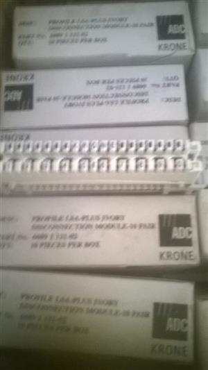 Krone 10 pair disconnect modules for sale. Brand new, in boxes. 300 available. R20 each.