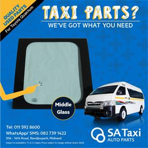 Middle Glass suitable for Toyota Quantum - SA Taxi Auto Parts quality used spares