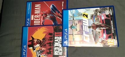 red dead redemption 2 . spider man and the crew 2 playstation 4