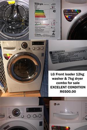 LG Front Loader (12kg) & Dryer (7kg) Combo