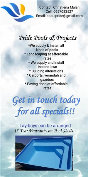 Pool Installations and other services
