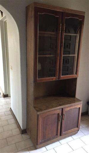 Double door, display cabinet