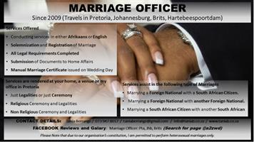 MARRIAGE OFFICER, REGISTRATION OF MARRIAGE
