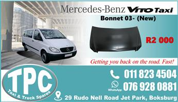 Mercedes Vito Bonnet 03- -New- Quality Replacement Taxi Spare Parts.