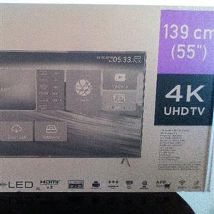 "55"" JVC UHD smart tv"