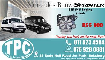 Mercedes Sprinter 515 646 Engine - Used - Quality Replacement Taxi Spare Parts.