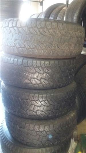 4xHankook Dynapro ATM tyres 265/60/18,80% thread