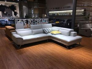 Amy corner lounge suite sofa set genuine leather uppers