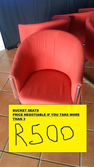 ORANGE BUCKET SEATS FOR SALE