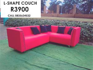 L-SHAPE COUCH (FABRIC)