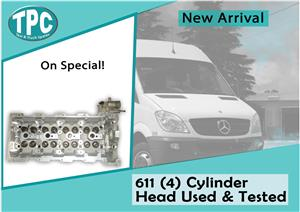 Mercedes Benz Sprinter 611 (4) Cylinder Head Used & Tested For Sale at TPC