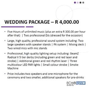 Echolight Events - Music and DJ hire
