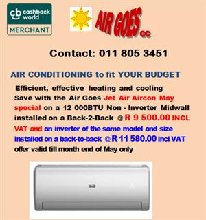 May Jet Air -Aircon Special