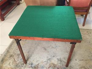 All-purpose portable games table - fully restored with new felt top for sale  Cape Town - Northern Suburbs