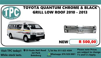 Toyota Quantum Chrome & Black Grill Low Roof 2010 - 2013 - For Sale at TPC