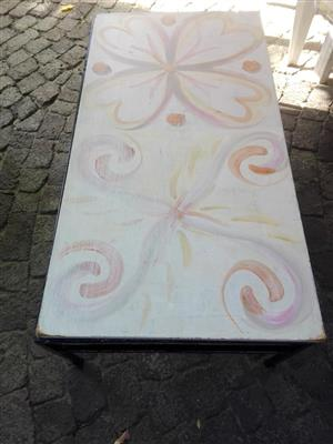 White painted table for sale